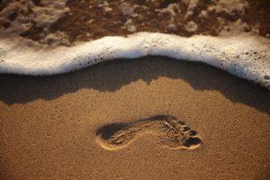 piede in sabbia