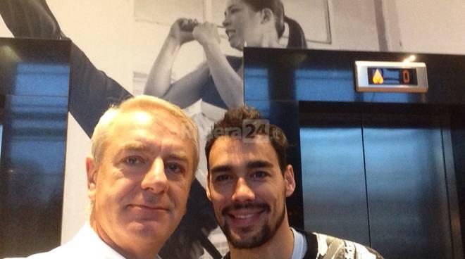 Il Dr Prof Luca Avagnina ed il tennista Fabio Fognini a Monaco di Baviera per Adidas